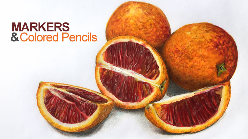 Markers and Colored Pencils Lesson Series