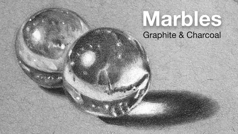 Graphite and White Charcoal Lesson Series