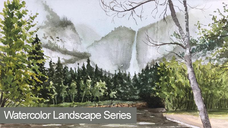 Watercolor Landscape Lesson Series