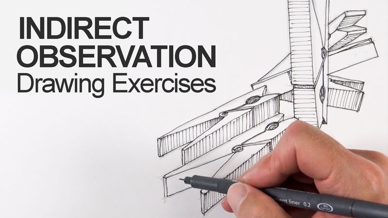 Indirect Observation Drawing Exercises Lesson Series