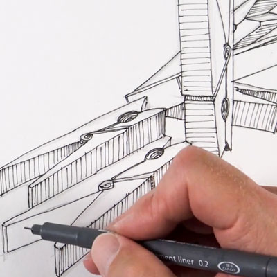Indirect Observation Drawing Exercises