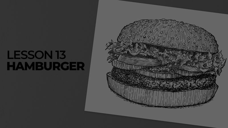 Subjects with ink - hamburger