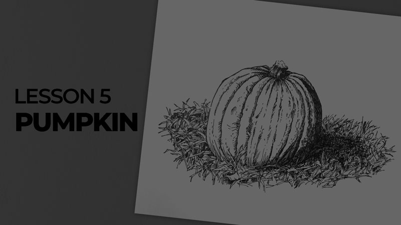 Subjects with ink - pumpkin