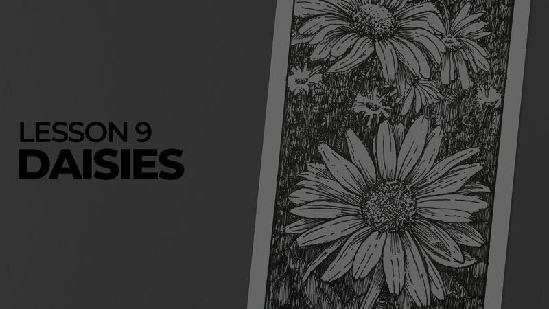 Subjects with ink - daisies