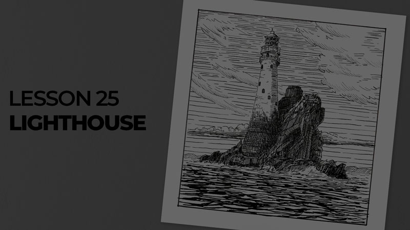Subjects with ink - lighthouse