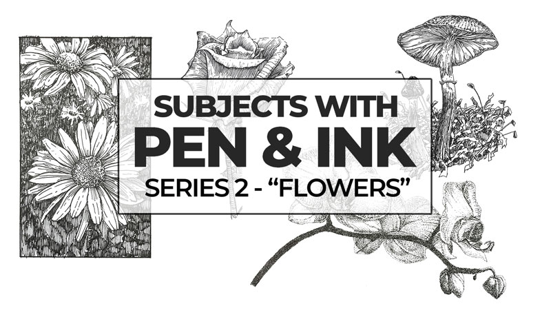 Flowers with Pen and Ink