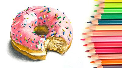 Colored Pencil Lesson - Doughnut