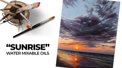 Landscape Painting - How to Paint a Sunrise