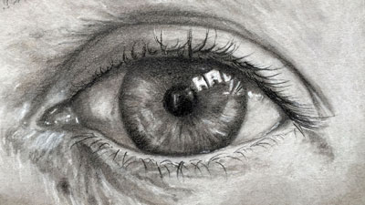 The Eye-Frontal View - Drawing Lesson