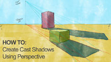 How to Draw Cast Shadows in Perspective