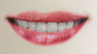 How to Draw a Realistic Mouth with Colored Pencils