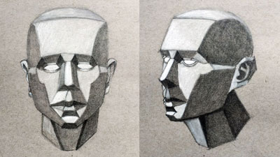 The Planes of the Face - Drawing Lesson