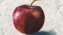 Oil Pastel Lesson - Apple Drawing