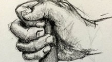 How to sketch hands from different angles