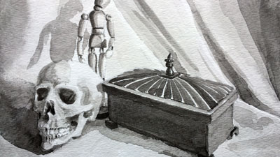 Ink wash still life lesson