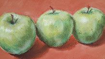 Still life lesson - Apples Pastels
