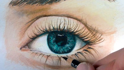 How to Draw an Eye with Colored Pencils